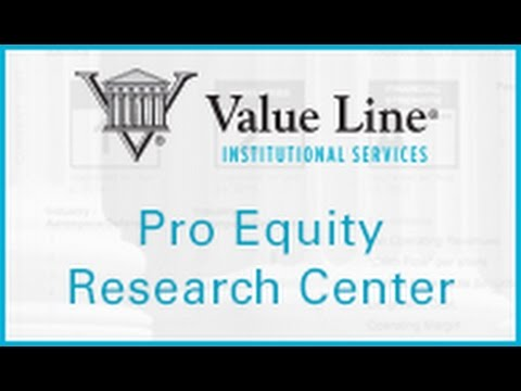 Inside The Value Line Pro Equity Research Center