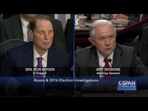 Attorney General Sessions & Senator Wyden FULL EXCHANGE (C-SPAN)
