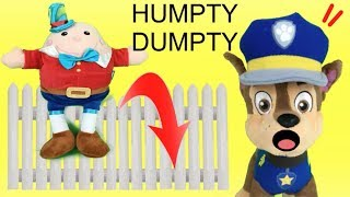 Humpty dumpty cancion infantil en español: version paw patrol y bebes patrulla canina de juguetes