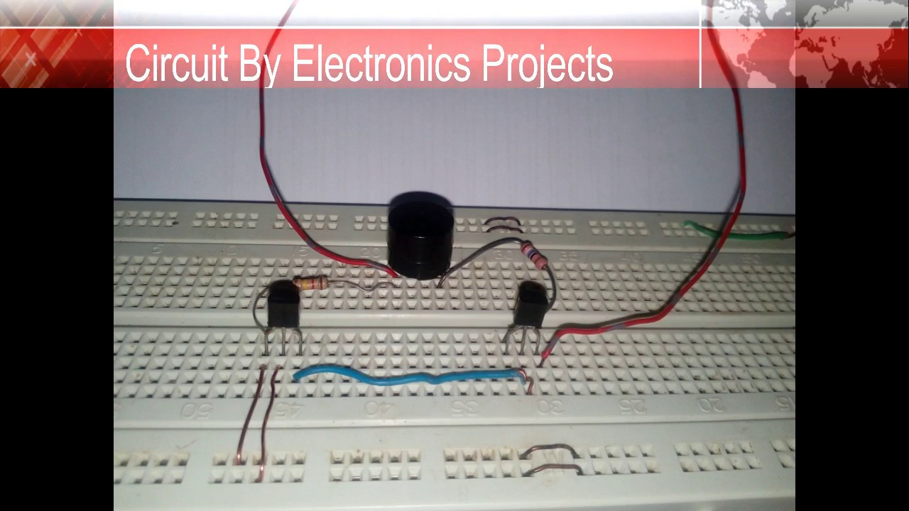 How to Make a Touch Switch - Basic Electronics Projects - Breadboard ...