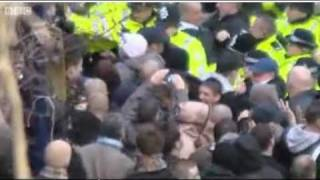 NAZI EDL SCUM ATTACK POLICE AND INNOCENT WOMEN AND CHILDREN!!