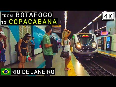 Walking, by Subway to Copacabana from Botafogo 🇧🇷 Rio de Janeiro, Brazil |【4K】2021