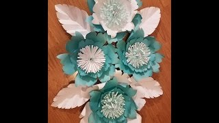 DIY Large Paper Flower, Paper flower stencil, paper flower backdrop, flower backdrop