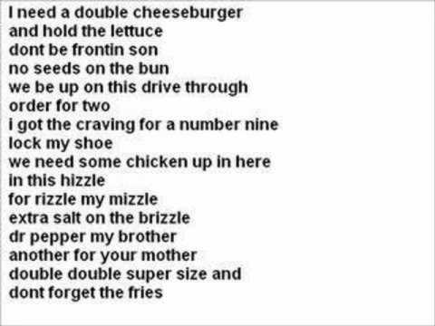Big Mac Rap Lyrics