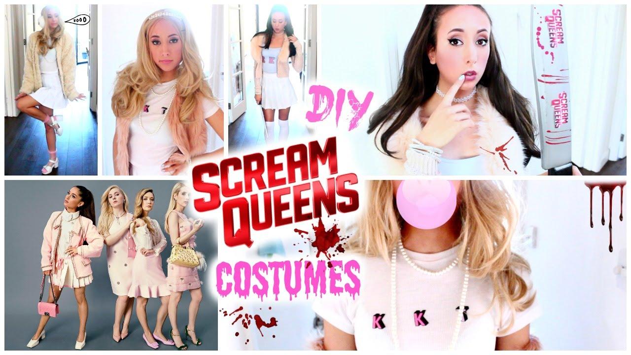 DIY Scream Queens Costumes! Get The Look Ariana Grande, Chanel Oberlin ,  YouTube