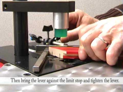 Cassese Cs59 Foot Operated Underpinner Frame Joiner Youtube