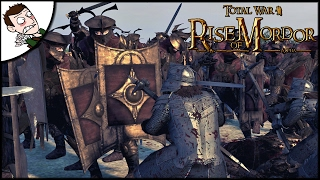 BRUTAL DWARF RIVER DEFENSE! Rise of Mordor Total War Attila Mod Closed Alpha Gameplay