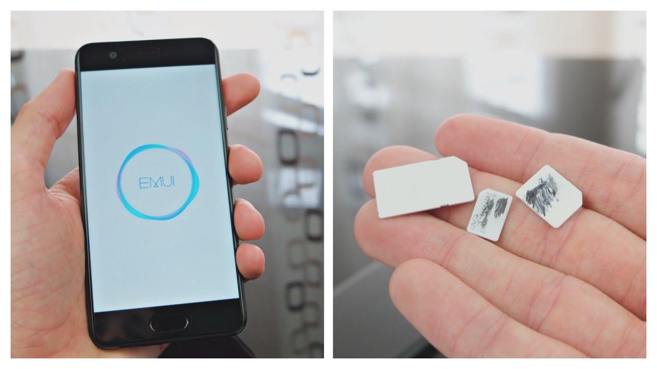 huawei p10 sim karte einsetzen Huawei P10   Ersteinrichtung, SIM Karte und micro SD einlegen   so