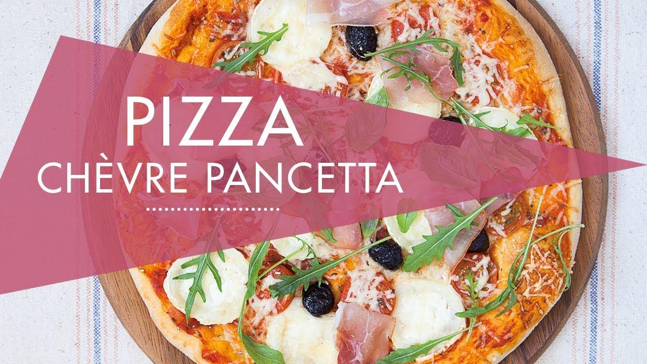 pizza ch vre pancetta recette au cook expert magimix. Black Bedroom Furniture Sets. Home Design Ideas