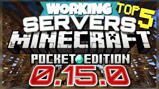 Minecraft Pocket Edition 0.15.0 - BEST 5 SERVERS TO JOIN [Minecraft PE 0.15.0] (MCPE) (WORKING)