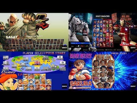 Street Fighter & MvC: Evolution of Select Screen (1987-2018)