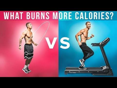 What Burns More Calories: Jump Rope Vs. Treadmill!
