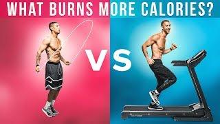 What Burns More Calories: Jump Rope Vs. Treadmill!