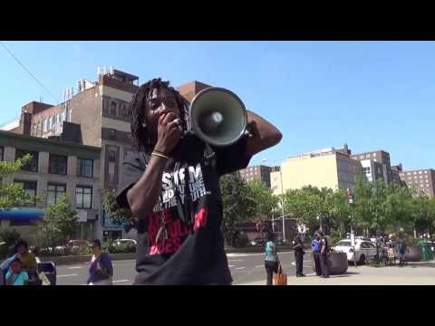 Jamel Mimx (Revolutionary Communist Party USA) Protesting killing of Trayvon Martin--RR