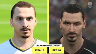 The Evolution of Zlatan Ibrahimovic on FIFA and PES