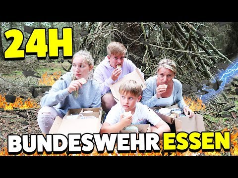 24 STUNDEN ÜBERLEBEN nur mit Bundeswehr NOTRATION - Möglich? 😁 TipTapTube Family 👨👩👦👦