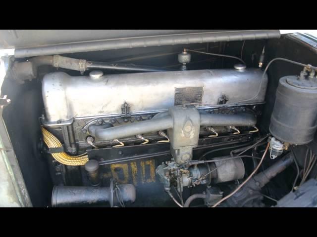 1928 Stutz BB Challenger engine start