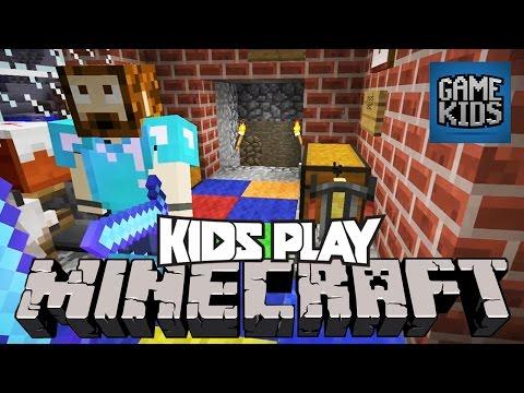 Minecraft PC with Burnie, JD, Teddy, and Ashley - Kids Play