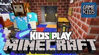 Minecraft PC With Burnie, JD, Teddy, And Ashley - Kids Play
