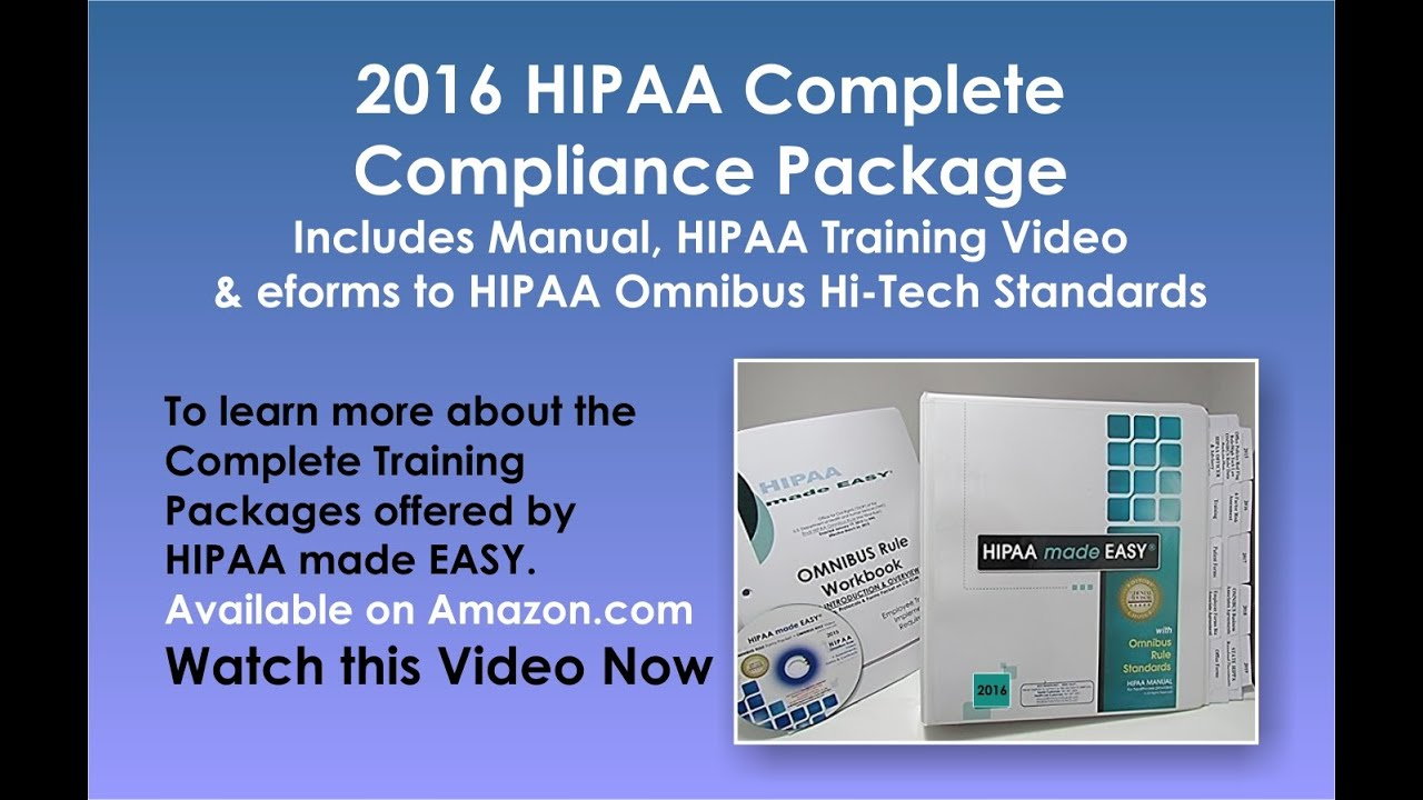2016 hipaa complete compliance package includes manual hipaa rh youtube com employee hipaa training manual employee hipaa training manual