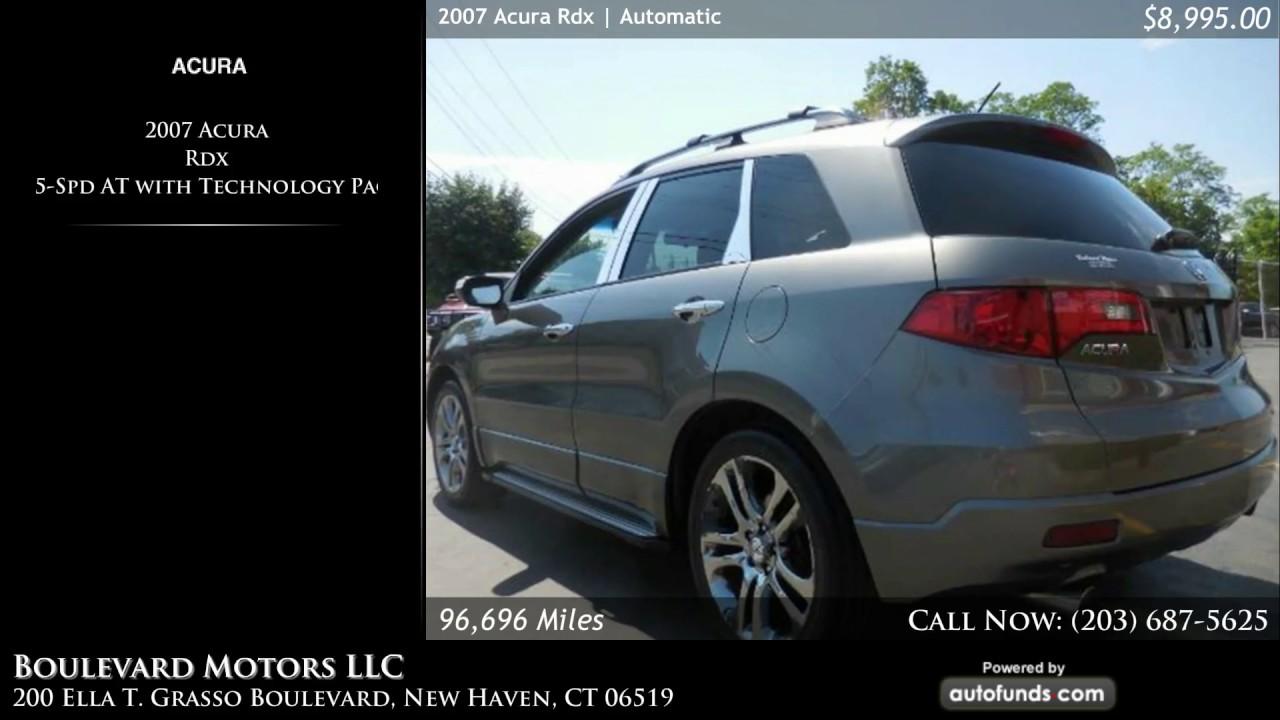 Used Acura Rdx Boulevard Motors LLC New Haven CT SOLD - Used 2007 acura rdx
