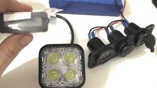 Сплиттер на 12 в .Аккумулятор 12 в из батарей 18650, Фонарь 12 в, Индикатор заряда с Алиэкспресс.