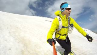 Last snow on Psiloritis, Crete ski touring