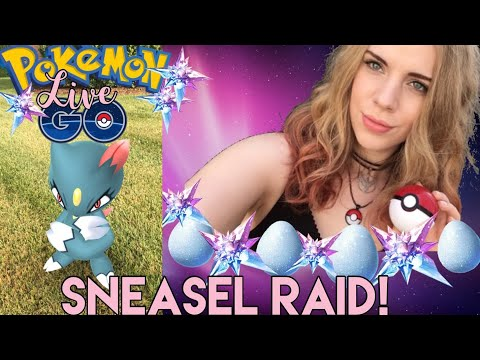 SNEASEL RAID IN AR PLUS MODE! Pokémon Go Live Stream! thumbnail