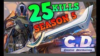 First 25 Kill Game In SEASON 5 😲 | Creative Destruction