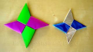 Sterne basteln mit Papier zu Weihnachten - Origami Stern - Weihnachtsbasteln