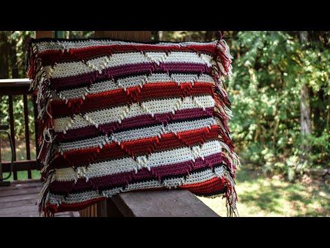 Part 2 Pillow Cover & Blanket Navajo Diamond Crochet Pattern.