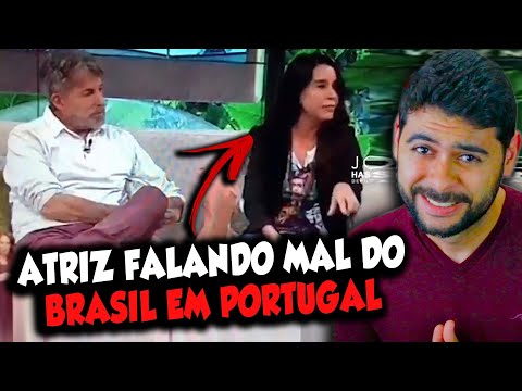 ATRIZ falando mal do BRASIL em PORTUGAL