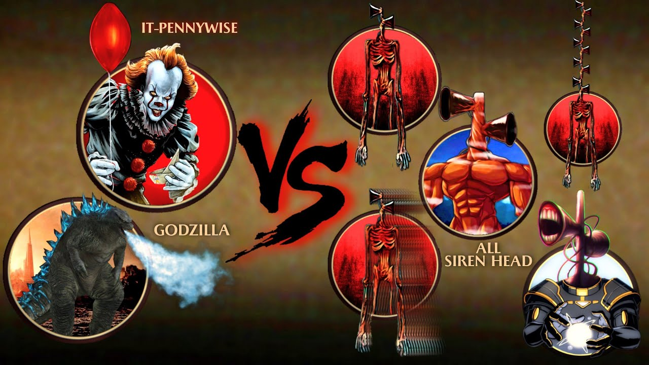 Download Shadow Fight 2 Godzilla Helps It-Pennywise To Defeat All Siren Head