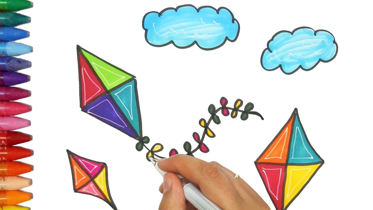 Kid/'s Coloring Butterfly Kite Kids Diy Painting Teach Study Children W//Line wK50
