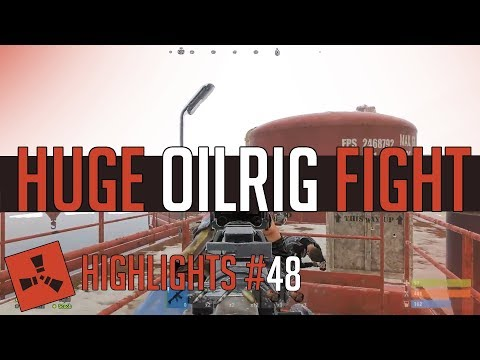 HUGE Oil Rig Fight! (Rust Highlights #48) thumbnail