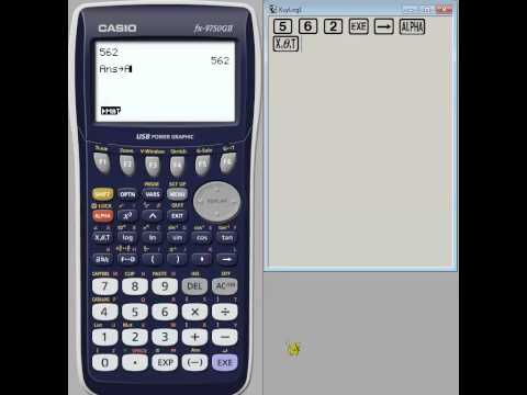 How to store and recall values on your graphics calculator