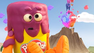 Play-Doh Official 🌋 Play Doh Volcano Erupts! 🌋 Funny Colors