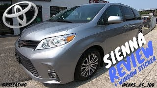 NEW 2018 TOYOTA SIENNA XLE REVIEW - A PERFECT MINIVAN !