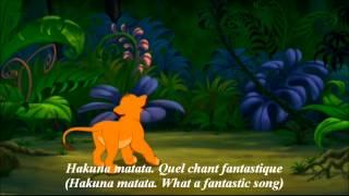 Le Roi Lion -Hakuna Matata- (French) Subs & Trans