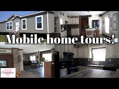 Mobile Home Tours / Looking At Single Wide And Double Wide Mobile Homes.