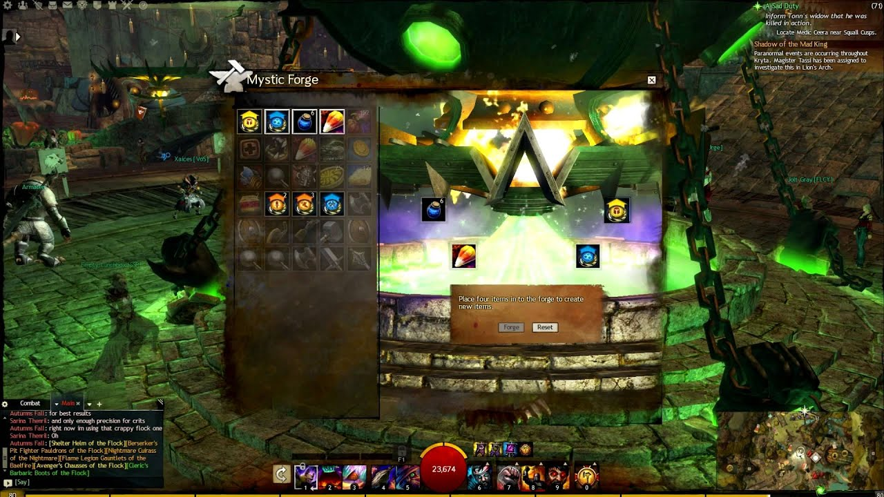 Guild wars 2 mad king chest mystic forge recipe youtube forumfinder Gallery