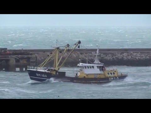 Trawler BM188 Lloyd Tyler Crossing Torbay 9th March 2016