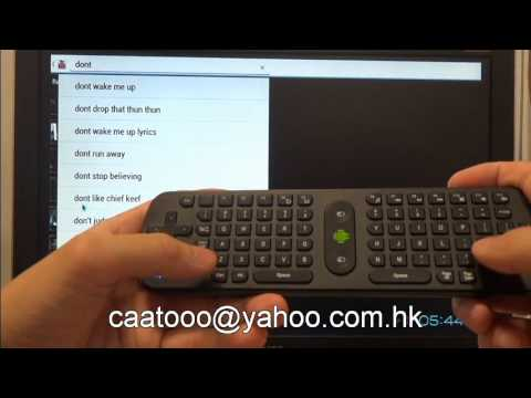 Measy RC11 2.4G Wireless Keyboard + Air Mouse with A10 Android TV stick