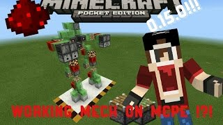 Walking Mech Robots in mcpe 0.15.0 !! Redstone contraption - Minecraft pocket edition