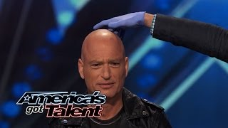 David & Leeman: Howie Mandel Can't Read When Magicians Squeeze His Skull - America's Got Talent 2014