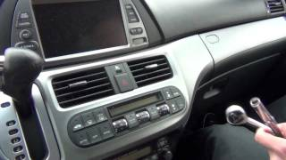 GTA Car Kits - Honda Odyssey with Navigation 2005-2010 iPod, iPhone and AUX adapter installation