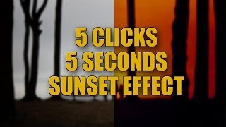 Photoshop Sunset Effect (5 clicks, 5 seconds)