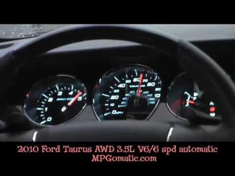2010 Ford Taurus AWD 0-60 MPH - YouTube