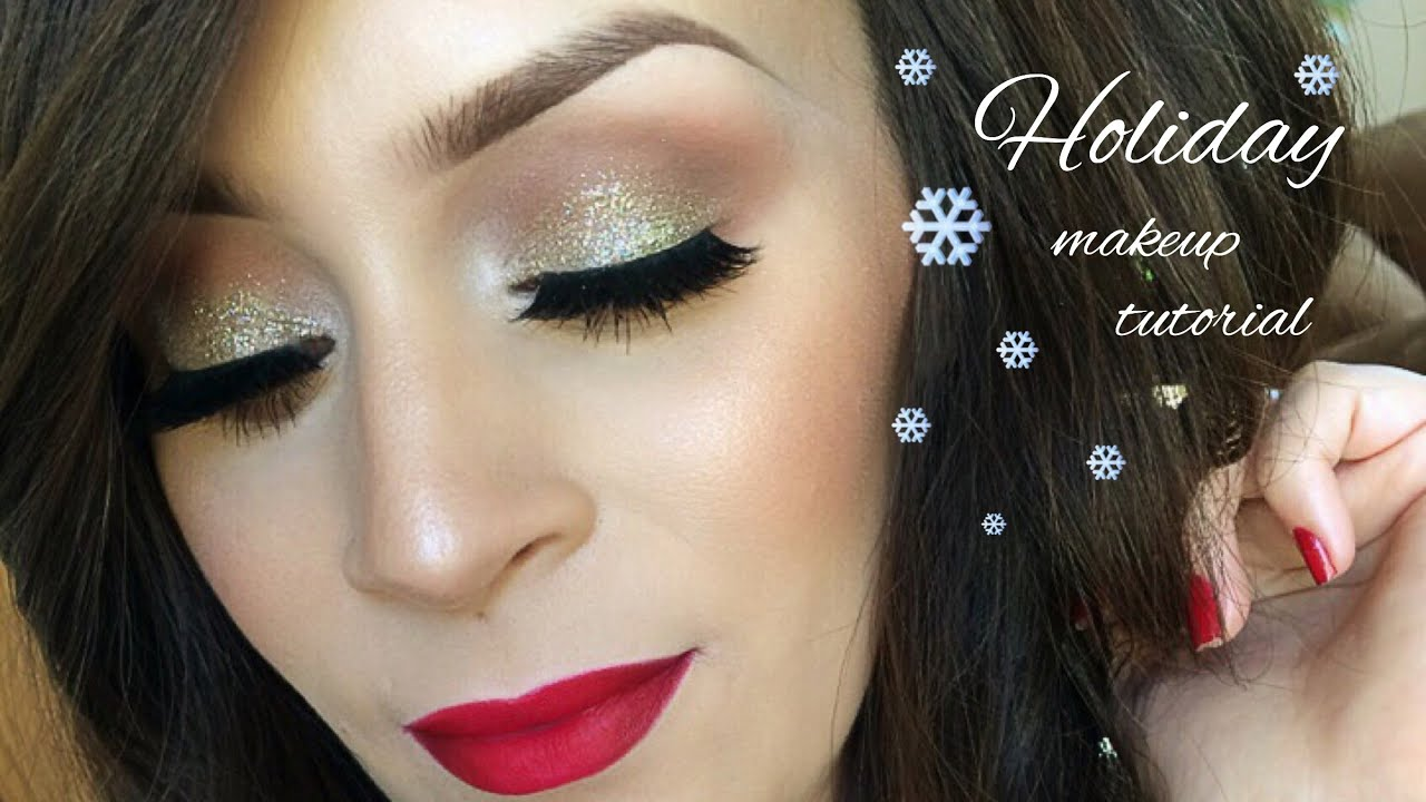 holiday makeup tutorial l christmas youtube