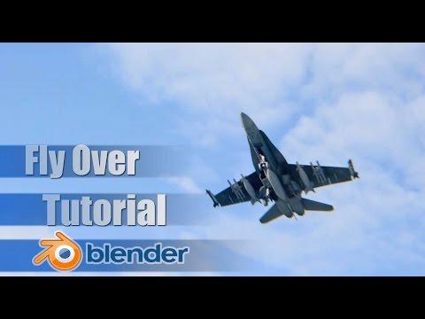 F-18 Hornet Fly Over - Live Footage VFX Tutorial Blender
